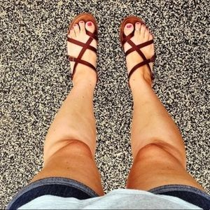 Dark Brown Greek Sandals